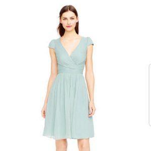 J.Crew Mirabelle Dusty Shale bridesmaid dress